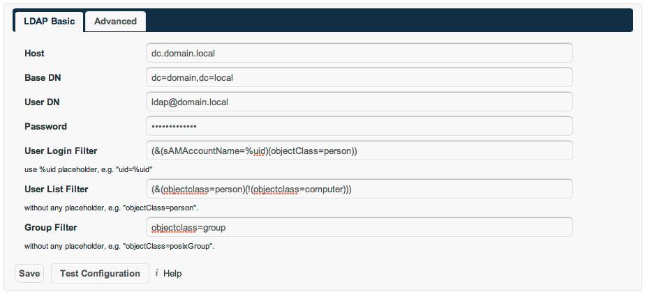 ownCloud LDAP Basic Setup